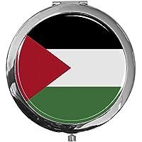 """metALUm - Extragroße Pillendose in runder Form""""Flagge Palästina"""" preisvergleich bei billige-tabletten.eu"""