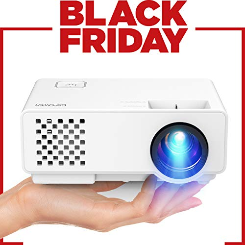 """DBPOWER Mini proyector, 2000 Lumen Proyector LED de Video HD 1080P con Pantalla de 176"""", 50000 Horas Proyector de Cine en casa con Sistema de Cine en casa"""