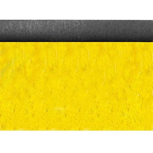 Gräser outdoor kunstrasen Farbiger Kunstrasen Kunstrasen Geeignet for Innen- und Außendekoration Kunstrasen auf farbiger Landebahn. Stärke 230mm, Rotgelb ( Color : Yellow 20mm , Size : 2mX2m ) -