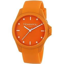 Nomination - 071200/012 Women's Quartz Analogue Watch-Bracelet Silicone orange