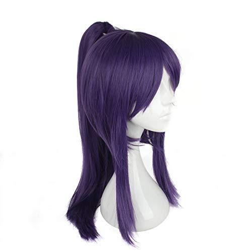 BIN--Hairpieces Haarteile Japanische Samurai Kleidung Mit Perücke Cosplay Perücke Lila Pony Langes Haar für den täglichen Gebrauch und Party (Farbe : Lila) - Krieger Kleidung Tragen