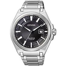 Citizen Super Titanium BM6930-57E - Reloj analógico de cuarzo para hombre, correa de titanio color plateado