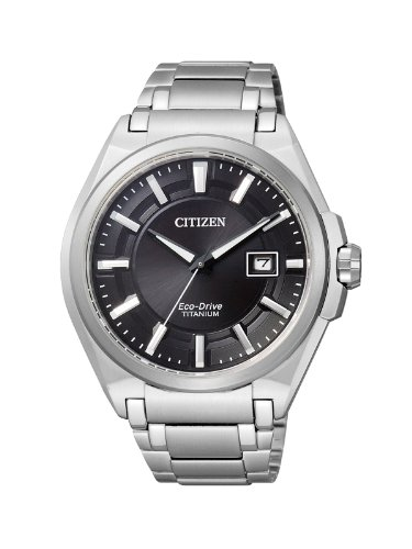 Citizen Herren Analog Quarz Uhr mit Titan Armband BM6930-57E