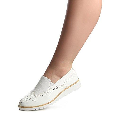 topschuhe24 , Ballerines pour femme Blanc