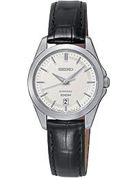 Seiko Damen-Armbanduhr XS Damenuhren Analog Quarz Leder SXDF55P2