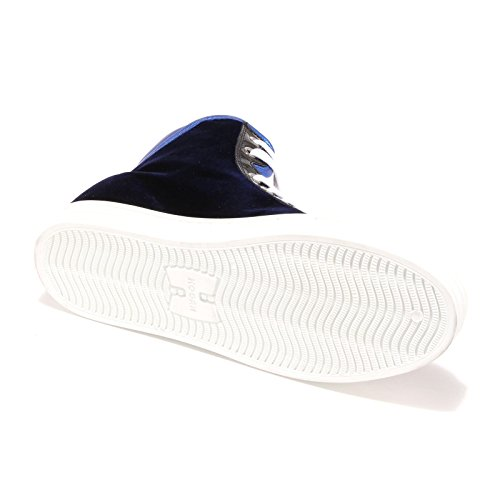 4467G sneaker donna blu HOGAN REBEL R182 paillettes velluto scarpa shoes women Blu
