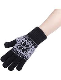 Decus Touch Screen kapazitiv Handschuhe Warm Unisex geeignet für alle Handys Schneeflocken