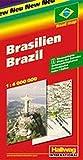 Brasilien Strassenkarte: 1:4 Mio. (Hallwag Strassenkarten) -