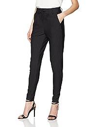 ONLY Damen Hose Onlpoptrash Pinstripe Pant,  Schwarz (Black), L30(Manufacturer size: Medium)