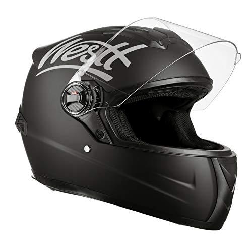 Westt Storm · Casco Integrale Moto Nero Opaco Scooter Motorino · Casco Moto Donna e Uomo · Omologato ECE
