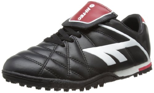 Hi-Tec Unisex-Adult League Pro Astro Football Shoes - Black (Black/White/Red 021), 10 UK (44 EU)