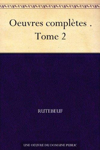 Couverture du livre Oeuvres complètes . Tome 2