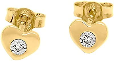 Bijoux pour tous - Pendientes de oro amarillo con diamante (0)