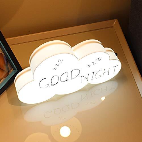FGHHT Nachtlicht LED DIY Cloud Handschriftliche Nachricht Light Box USB Tisch Nachtlicht Ins Mädchen Net Red Anchor Schlafzimmer Layout Kreative Dekoration (Illusion Wand-kalender)