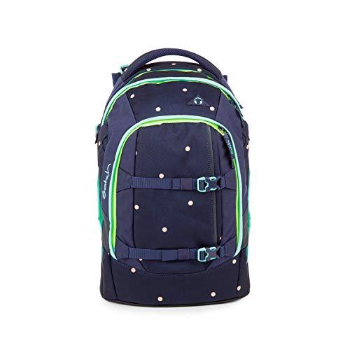 satch Pack Pretty Confetti, ergonomischer Schulrucksack, 30 Liter, Organisationstalent, Blau/Gelb/Apricot