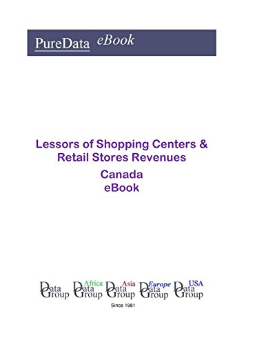Lessors of Shopping Centers & Retail Stores Revenues in Canada: Product Revenues (English Edition)