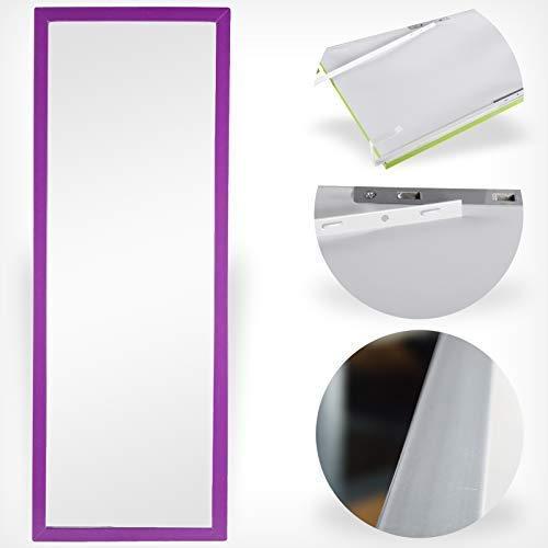 DRULINE Wand- & Türspiegel Spiegelfläche: 30 x 90 cm Farbe: Lila