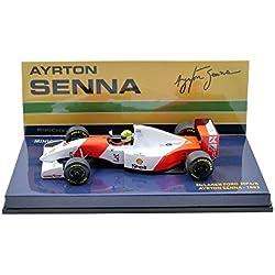 """Minichamps 540934308 """"1993 Mclaren Ford MP4-8 - Ayrton Senna Kit de Modelo de plástico, Escala 1:43"""