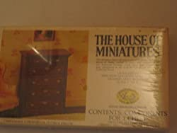 Vintage House Of Miniatures Components For One Chest Chippendale 6 Drawer Chest/Circa 1750 1790 Scale 1