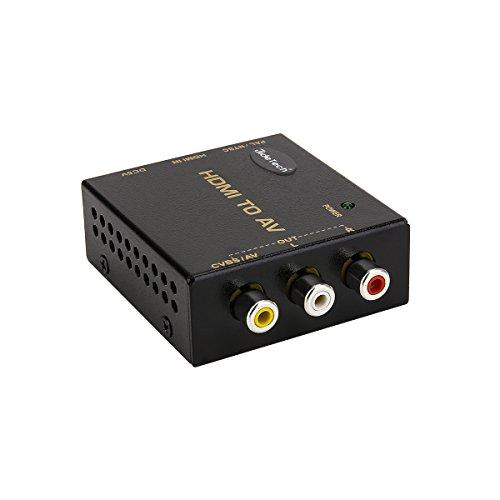 Ureru HDMI zu AV Konverter Adapter Signalkonverter Spielen Sie auf TV, VHS VCR, DVD Recorder und Support NTSC und PAL (Vcr-recorder Für Tv)