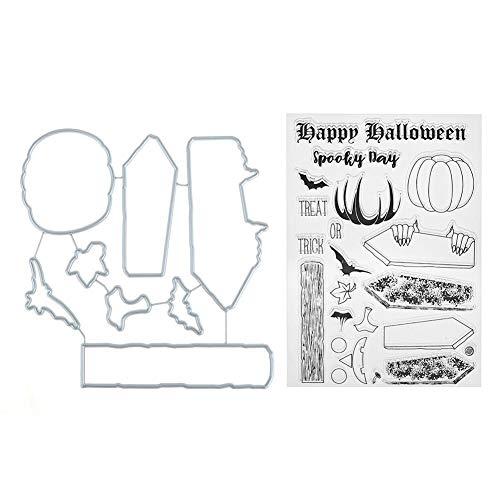 Matefield Stanzschablonen aus Kohlenstoffstahl für DIY Scrapbooking Fotoalbum Prägung Karte Basteln Geschenk Happy Halloween