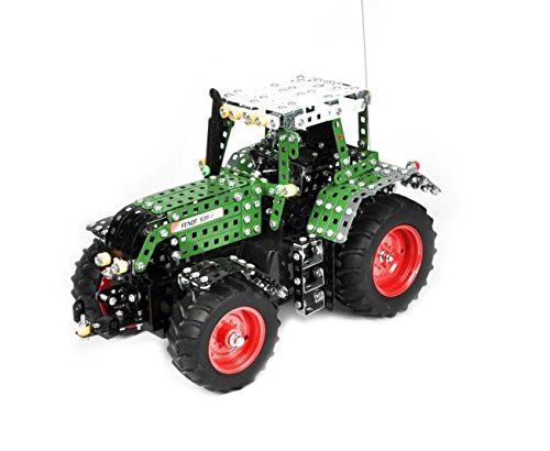 RC Auto kaufen Traktor Bild: Tronico 10070 - Metallbaukasten Traktor Fendt 939 Vario mit Fernsteuerung, Profi Serie, Maßstab 1:16, 790-teilig, grün*