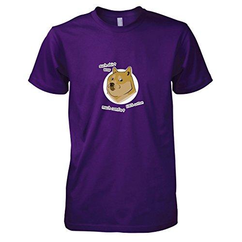 TEXLAB - Such Shirt Doge - Herren T-Shirt, Größe XXL, violett