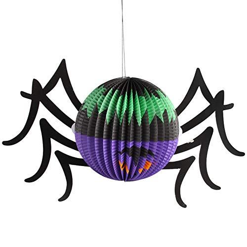 (wsjwj Nachtlichter & Schlummerleuchten Halloween Ghost Festival verkleiden sich Laterne Dekoration Requisiten Klapplaternen, große Ball Spider)