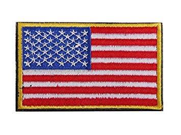 ZHJZ Bandera Estados Unidos Conjunto Bordado Parche