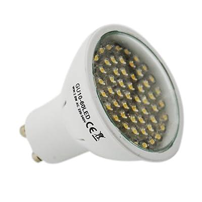 LED SPOT STRAHLER - ERSATZ FÜR Lampe Birne ### GU10 - 60 LED - 500000 Schaltzyklen - 3200 KELVIN - warmweiss von 1aTTack.de bei Lampenhans.de
