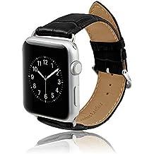 MPTECK @ Negro 42mm Cuero banda de reloj de la correa de para reloj inteligente smart watch Apple Watch APPLE WATCH II Apple Watch Serie 1 Series 2
