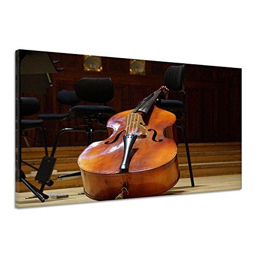Kontrabaß Musikinstrument Klassische Musik Leinwand Poster Druck Bild uu0889 90x60