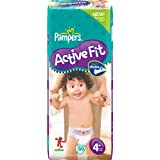 Pampers Active Fit couches Taille 4+ Maxi + (9-20 Kg), Geant 2x50, 100 couches