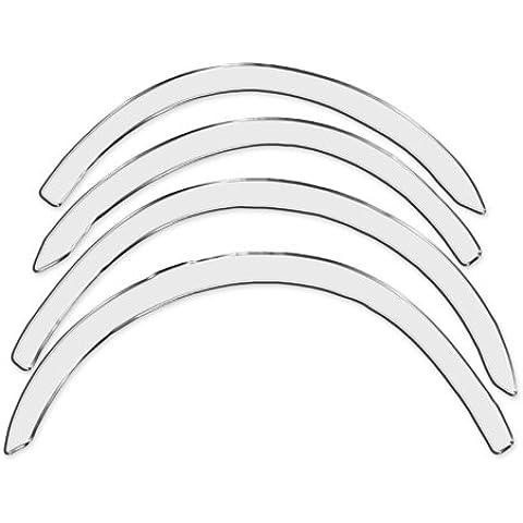 R.S.N. 997 Crom acciaio inossidabile, Parafanghi ruota archi , Parafanghini passaruota crom