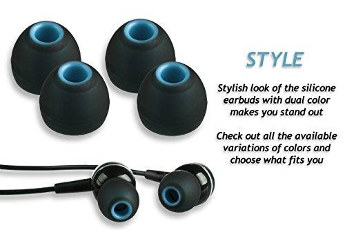 XCESSOR (S) 7 Paar (14 Stück) Silikon-Ersatz-Ohrhörer Klein Größe Ersatz-Ohrstöpsel für Beliebte in-Ear-Kopfhörer. Schwarz/Blau - 5