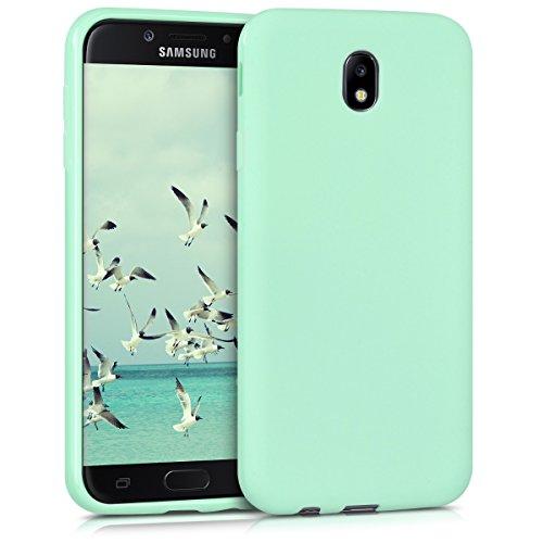 kwmobile Samsung Galaxy J7 (2017) DUOS Cover - Custodia per Samsung Galaxy J7 (2017) DUOS in Silicone TPU - Backcover Protezione Menta Matt