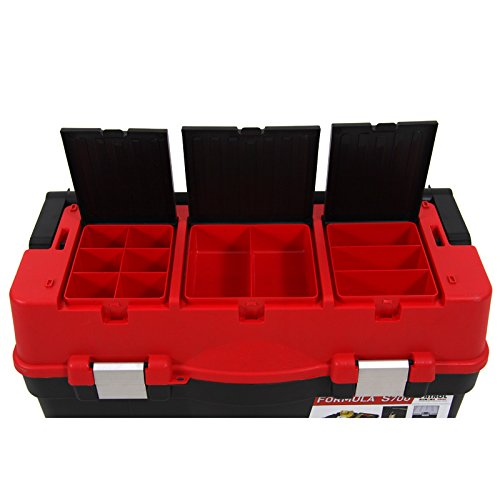 Kunststoff Werkzeugkoffer Formula S ALU 700, 60x33cm Kasten Werzeugkiste Sortimentskasten Werkzeugkasten Anglerkoffer - 6