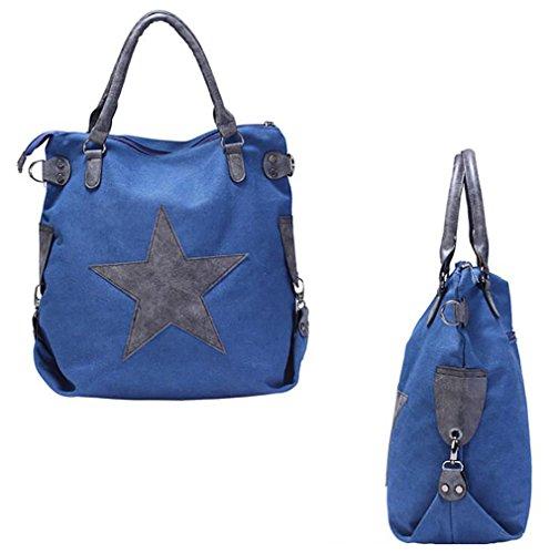 Adore Centro Borsa Unisex Borsa In Vera Pelle Shopper A Tracolla Shopper Vintage Portafogli 4 Colori Selezionabili Blu