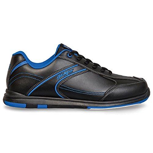 KR Strikeforce Flyer Bowling-Schuhe Damen und Herren, für Rechts- und Linkshänder in 4 Farben Schuhgröße 38,5-48 mit gratis Schuh-Deo Titania Foot Care (Blau, US 10,5 (43)) -
