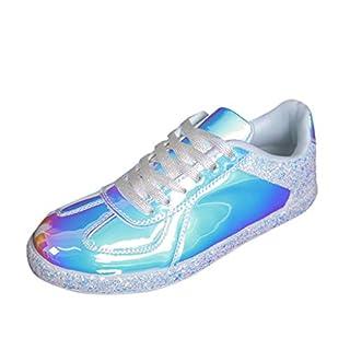 Saihui Damen Bunt Sportschuhe Bequem Schuhe Turnschuhe Sneakers Laufschuhe Fitness Leicht rutschfeste Turnschuhe für Damen (EU:39, Weiß)