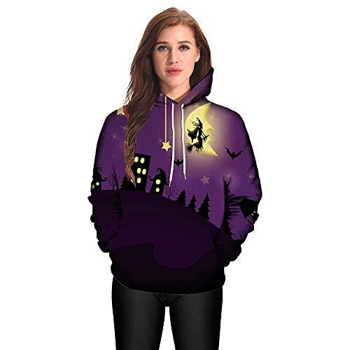 (BaZhaHei Herren Langarmshirt Männer Frauen Modus 3D Print Langarm Halloween Paare Hoodies Top Bluse Shirts)