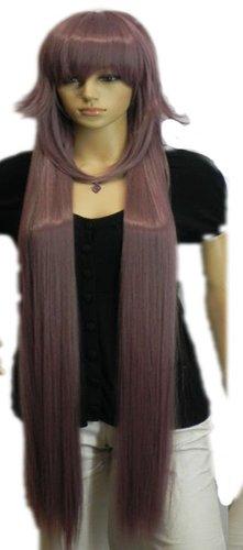 QIYUN.Z Haarteile Damen Perücken Trauben Lila Lange Gerade Hitzebeständige Faser Synthetische Haar Voller Anime Cosplay Kostüm Perücke