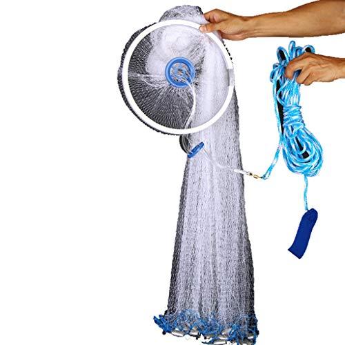 Netzwerk-könig (Frisbee Werfen Netner Net Fisch Traditionelle Hand Cast Angeln Einfach Zu Automatische Werfen König Werkzeug Fangstange Einfach Lernen Einfach Ein Mesh Netzwerk Hohe 1,2 Mt (stahl))