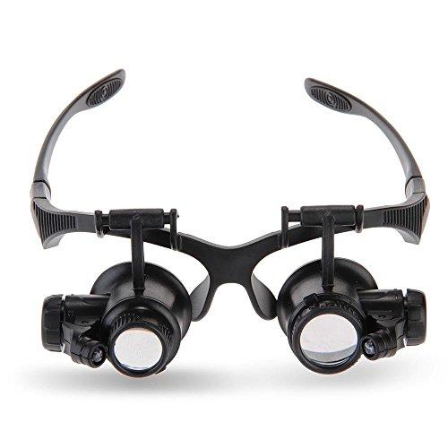 Sonline Brillenlupe Lupenbrille Vergroesserungsglas fuer Uhrmacher Juwelier 10x 15x 20x 25x