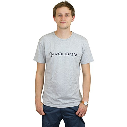 Volcom T-Shirt Euro Pencil Basic grau meliert Grau