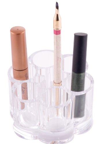 Danielle Support de rangement rond pour produits cosmétiques en acrylique Transparent