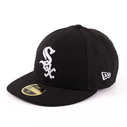 New Era Herren Caps / Fitted Cap Authentic Performance Low Crown Chicago White Sox schwarz 7 5/8 - (Crown Low Hüte)
