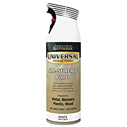 Rust-Oleum AE0160002E8 400ml Universal Spray Paint-Satin White, not_ not_Applicable