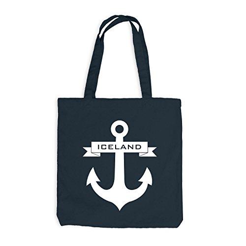 Borsa Di Juta - Anchor Band Islanda - Navigazione Marittima Grigio Scuro
