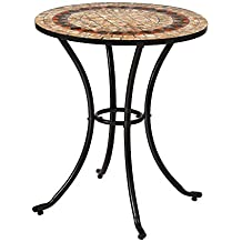 Mesa de jardín Auxiliar de cerámica marrón ...
